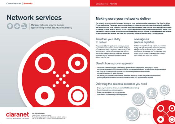Brochuras serviços de rede Claranet