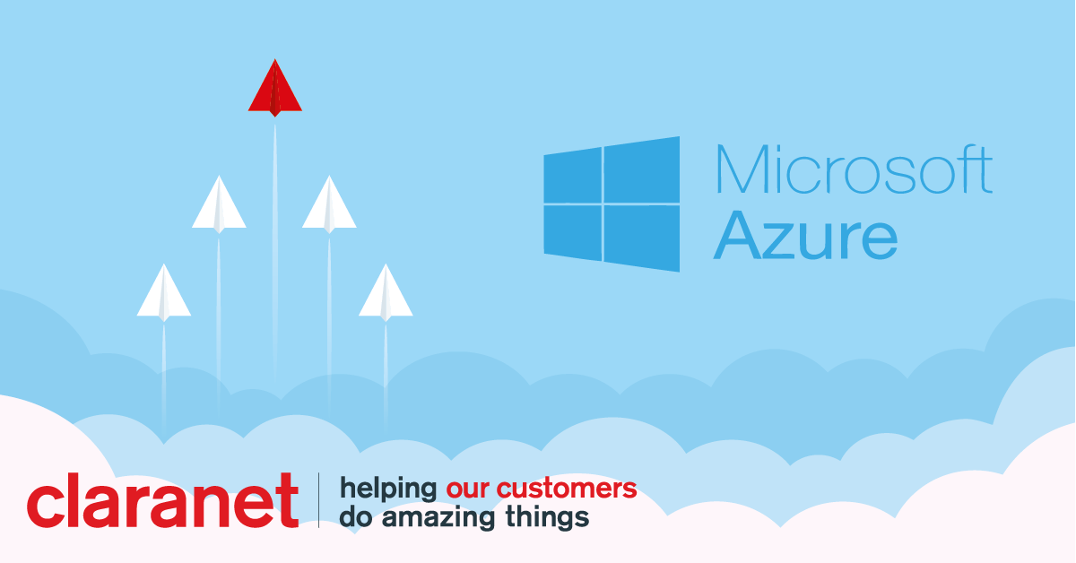 Microsoft Azure monthly payments available at Claranet