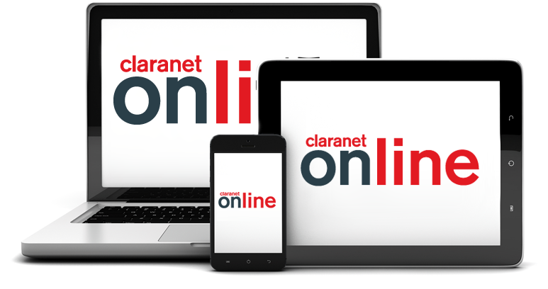 Claranet Online can be used on mulitple devices